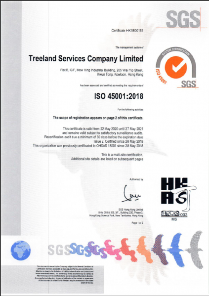 22-May-2020 Updated ISO45001:2018 Certificate