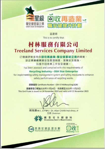 24-Nov-2020 Obtain of the Recycling Industry – OSH Star Enterprise